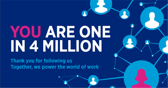 Over 4 million followers on LinkedIn - Hays.nl